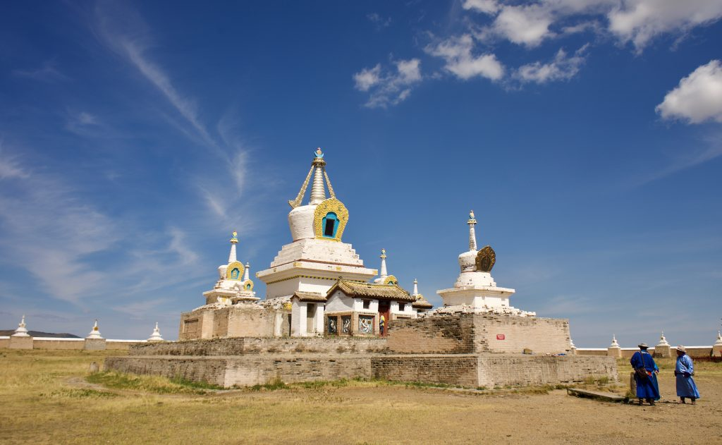 Praying in Erdene Zuu
